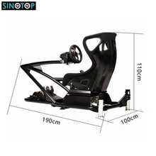 SINOTOP factory price 9d virtual reality three screens Oculus VR headset 2d driving simulator