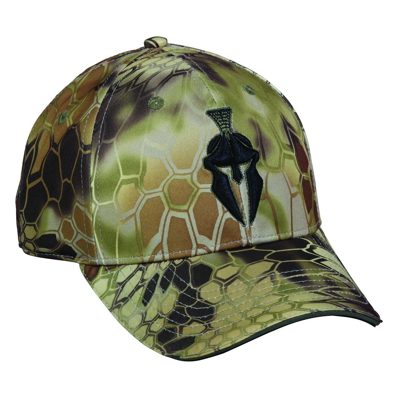 d6bbcf7730d Get Quotations · Kryptek Tactical Camo Spartan Warrior Highlander with Jet  Black Logo Cap Hat 148