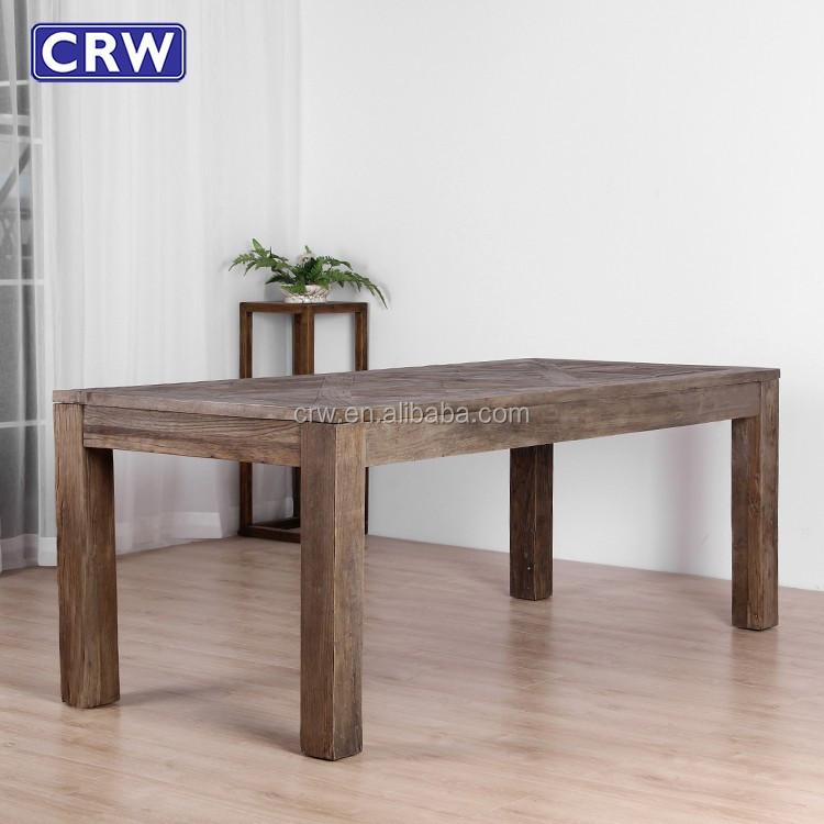 Elm Wood Restaurant Tables Furniture Antique Dining Table