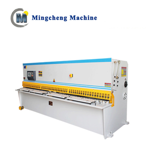 Hydraulic electric metal steel plate welded frame cnc 8X3200 7.5KW guillotine swing beam shearing machine price