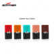 ocitytimes close system ceramic plastic vape cartridge pod with silicone cap