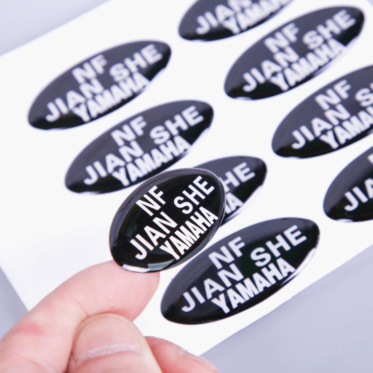 Custom Logo Adhesive epoxy resin label Full Color epoxy resin stickers
