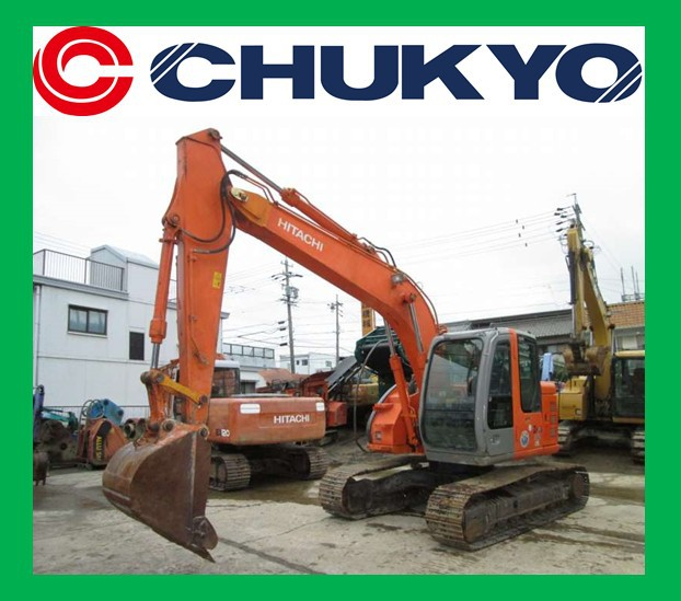 Japanese Used Excavator For Sale Hitachi ZX 135 US <SOLD OUT>/ Steel Shoe , Piping , Isuzu Engine