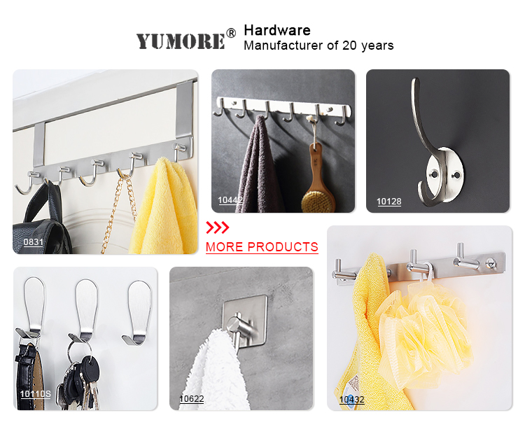 YUMORE 20KG capacity heavy duty iron pvc coating garage storage utility hook