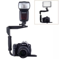 Quick Flip Rotating Flash Bracket for Digital SLR Cameras Point and Shoot Cameras and Speedlight Flashes