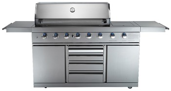 Stainless Steel Gas Bbq Grill 6 Burner With Aga Ce