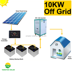 New design stand alone 10kw solar pv system with battery backup