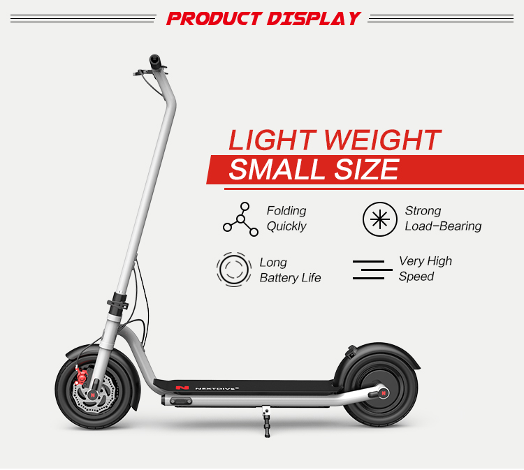 2 Wheel Long Range Foldable Electric Scooter Mobility With Seat