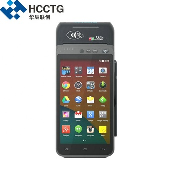 5.5inch Biometric Cards Payment Handheld 2D Fingerprint Qr Code POS Terminal Android HCC-Z100