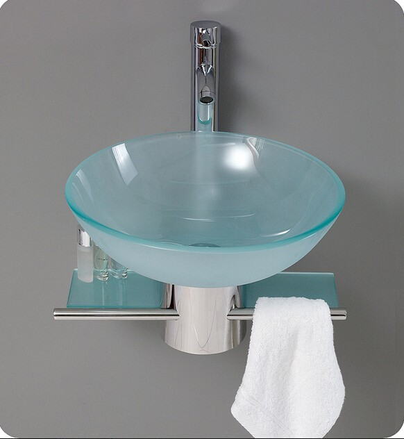 Modern basin designs tempered glass wash basin with towel - Discount bathroom vanity and sink combo ...