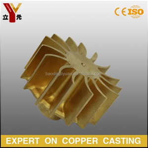 Custom made investment casting water pump brass impeller