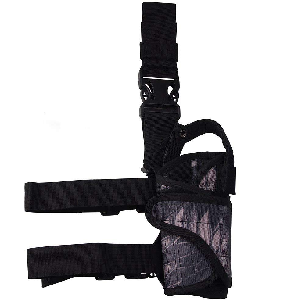 Alarm System Kits Security & Protection Adjustable Tactical Army Military Black Camouflage Pistol Gun Puttee Leg Thigh Pistol Holster Pouch Holder Belt