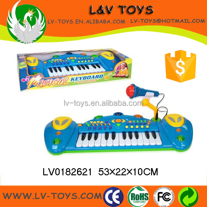 Kids electronic musical organ with microphone