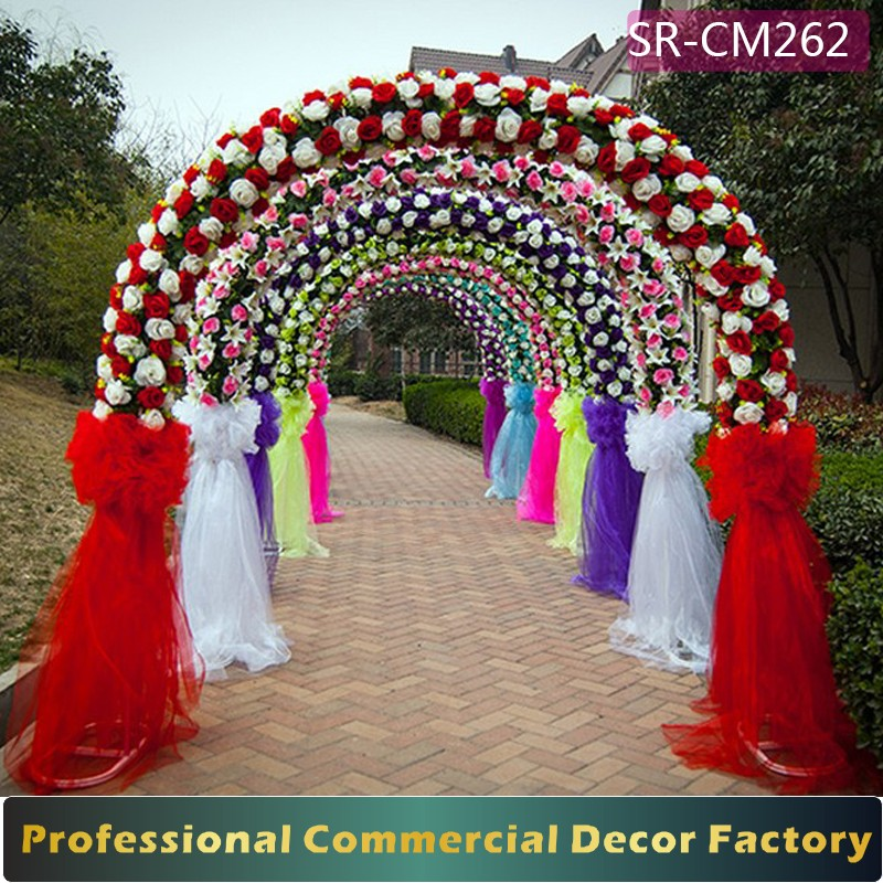 Custom Foldable Giant Wedding Arch Gate Decoration With