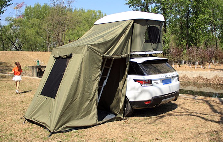 Hard Shell Roof Top Tent With Awning On Sale