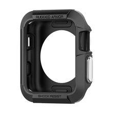 Прочный армированный резиновый чехол для Apple Watch 4, 3, 2, 1, 40, 44 мм, прочный защитный чехол из ТПУ для Iwatch 42 мм(Китай)