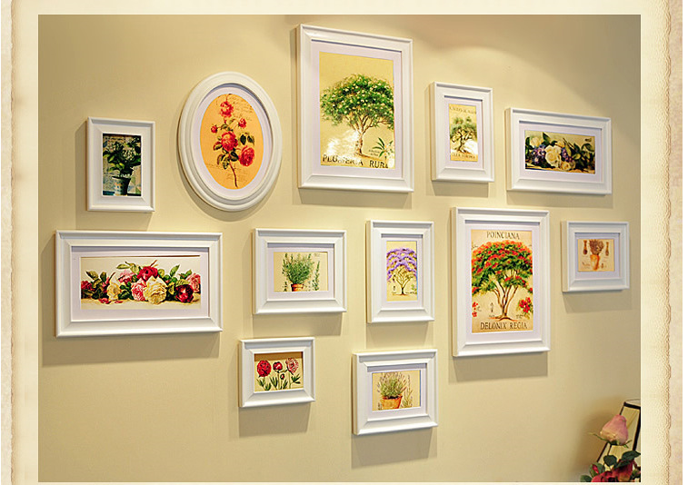 wholesale hanging bulk 9 frames wall decor photo frame for wedding decoration