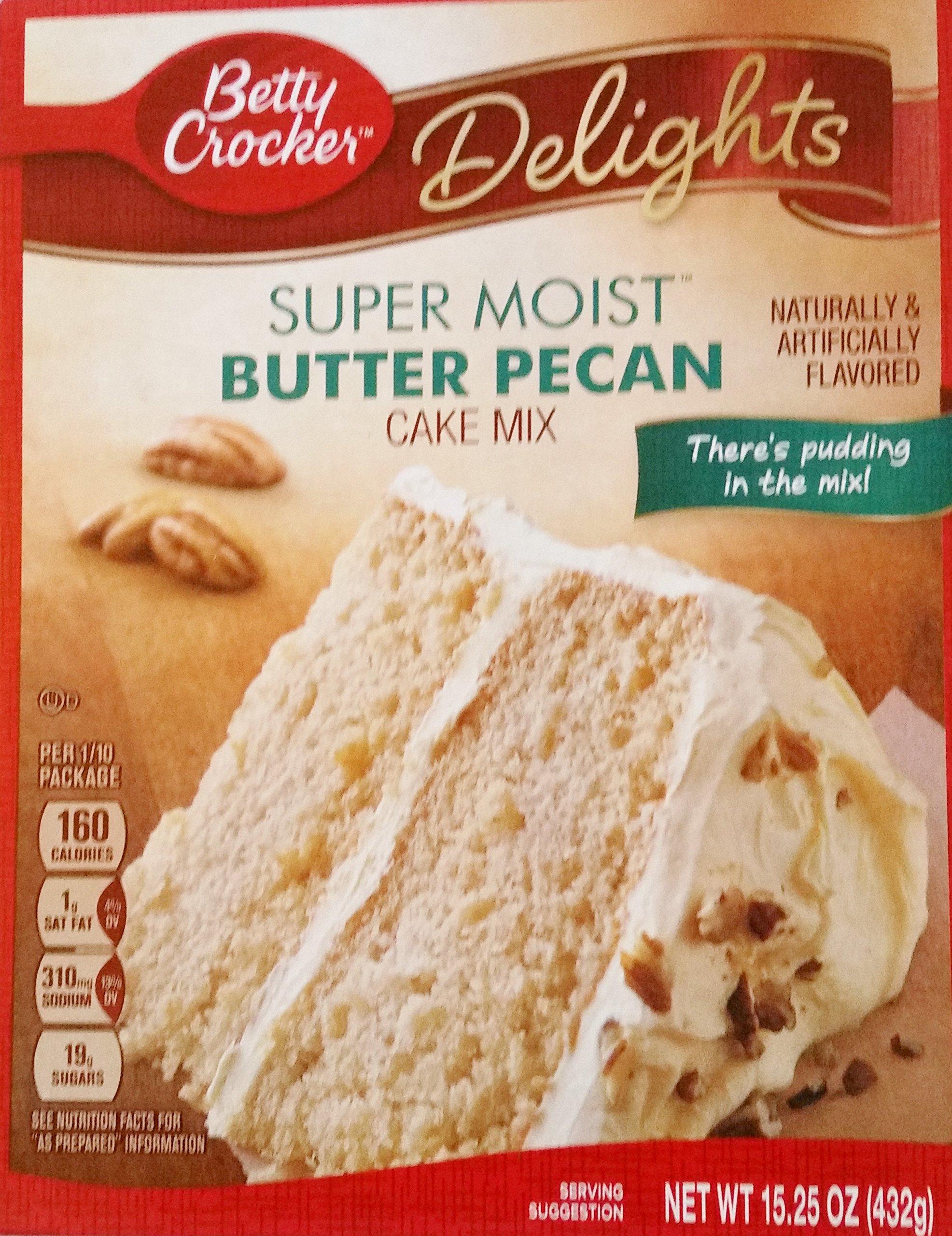 Betty Crocker Delights Super Moist Butter Pecan Cake Mix (Pack of 3)
