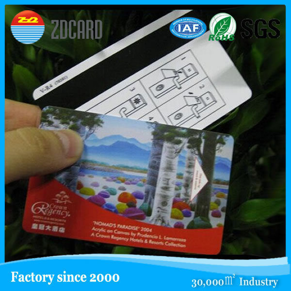 custom ISO standard size PVC access card for hotel room with magnetic stripe