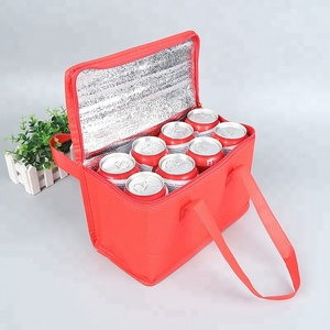 Custom 8 cans non-woven aluminium film insulated cooler lunch bag
