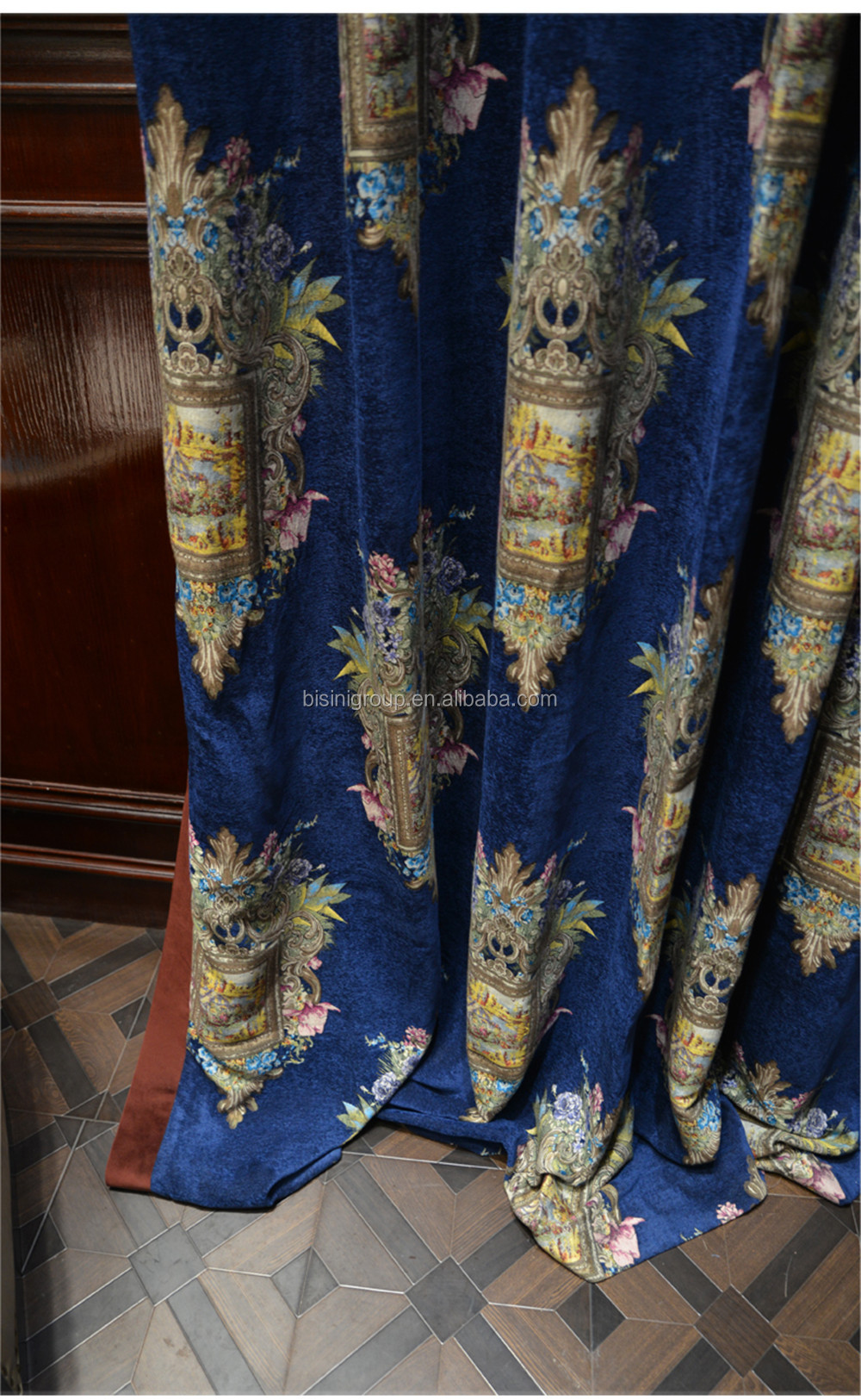 Luxury Noble Blue Jacquard Patterned Curtains For House Villia Window Blue Plaid With Yellow Sheer Curtain By12 A10006 View Luxury European Style Window Curtain Bisini Product Details From Zhaoqing Bisini Furniture And Decoration Co