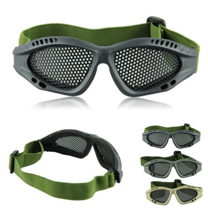 Привлекательный открытый катание на лыжах езда охота тактический очки игра военно-airsoft металла сетки очки защиты