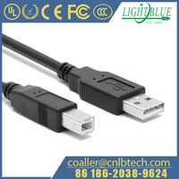 Long 25ft/25 Foot USB Printer Cable Cord for Canon/HP or Custom Products