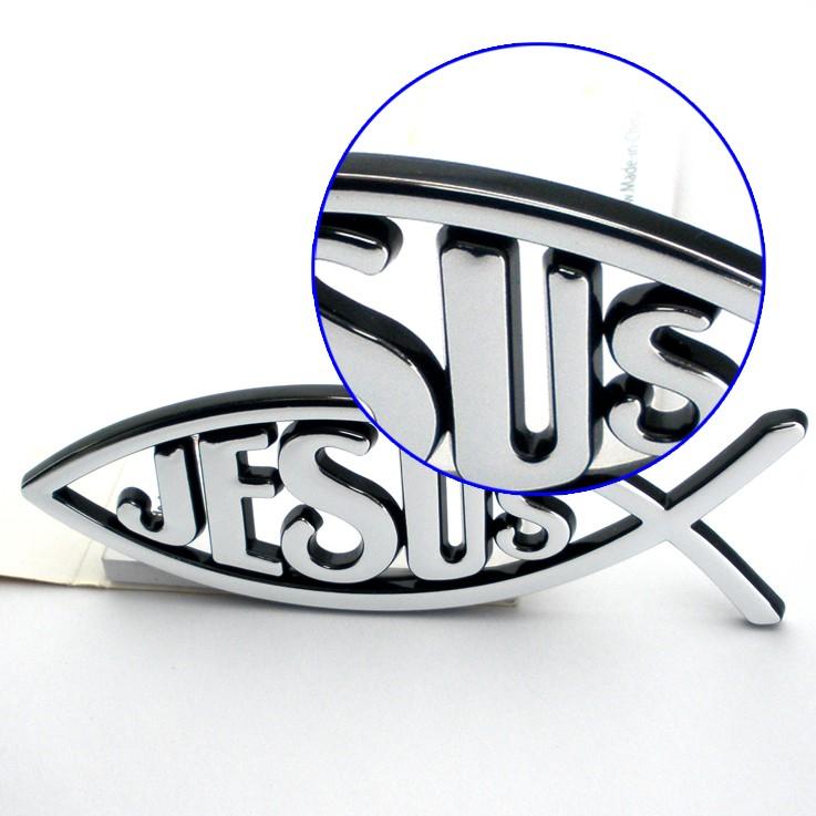Productos Cristianos Encargo Al Por Mayor Jesús Pescado 3d Emblema ...