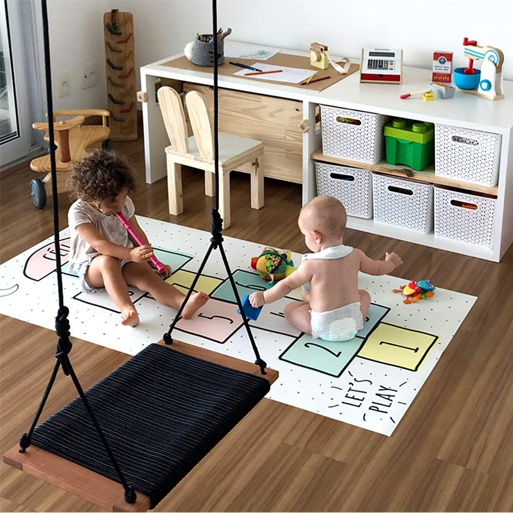 Get Quotations Hiltow Hop And Count Hopscotch Rug Kids Children S Rugs Baby Nursery Crawling Jumping