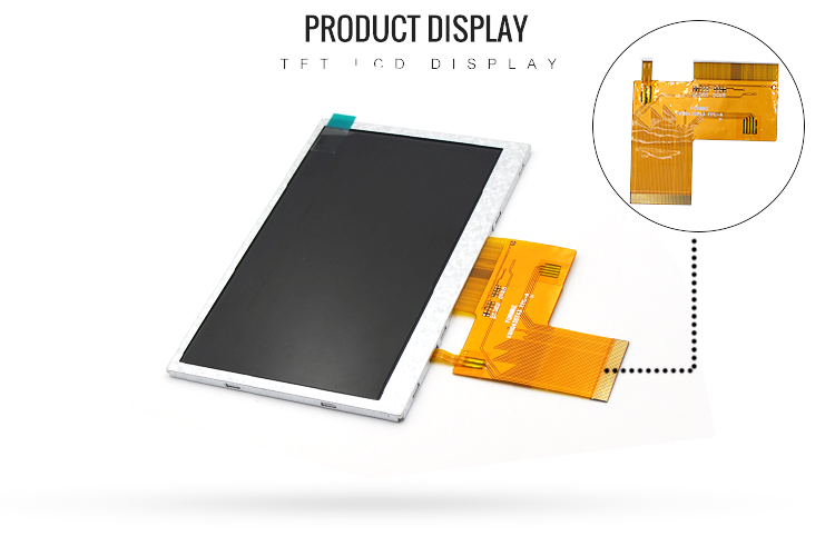 4.3'' 800x480 LCD Panel Parallel RGB 4.3 Inch IPS LCD Display For Industry