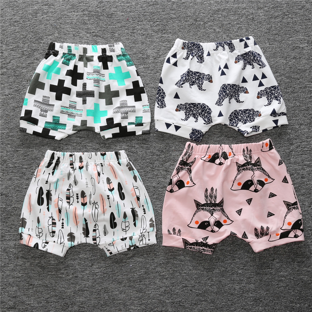 Wholesale Soft baby Shorts baby Clothing Kids Shorts Cute Patterns Trousers