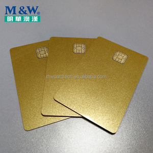 Wholesales JCOP Card Gold Color J2A040 Java chip Card with Magnetic stripe can be Programmed