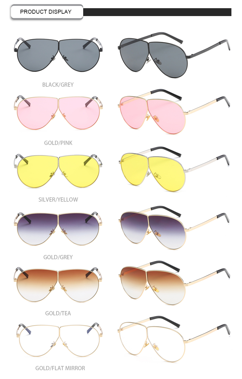 2019 Fashion Gradient Round Frame Custom Logo Women Shades Sunglasses