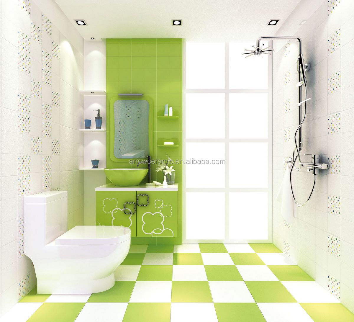 Glazed green wall tiles 450x300tiles on the bedroom walltile glazed green wall tiles 450x300 tiles on the bedroom wall tile bathroom models dailygadgetfo Image collections