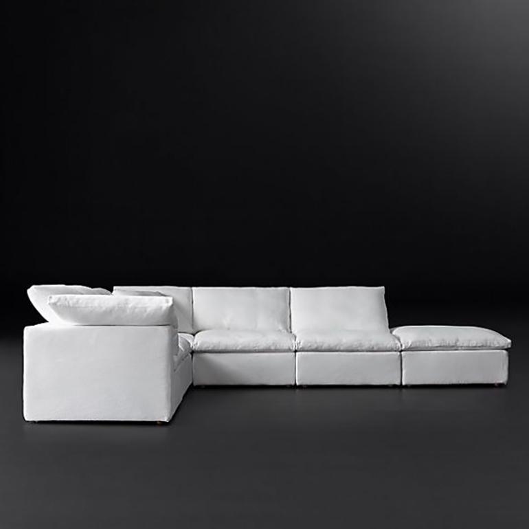 Modern Soft Fabric Modular Sofa Divan Living Room Furniture Chinese