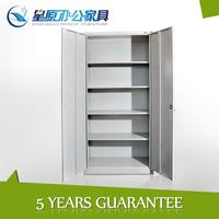 China utillity metal 2double swing door adjustable shelves storage office filing cabinet
