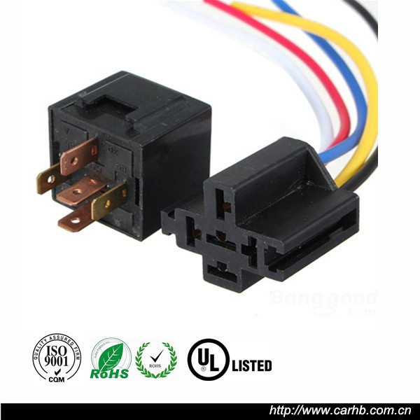 """Automotive 40//30A Dual Relay SPDT 12V Volt 5 Wire 7/"""" Harness"""