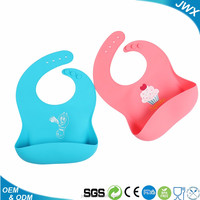 Hot Selling waterproof Silicone Baby Bib Convenience Health Bib Infant Baby Cute Feeding Bid