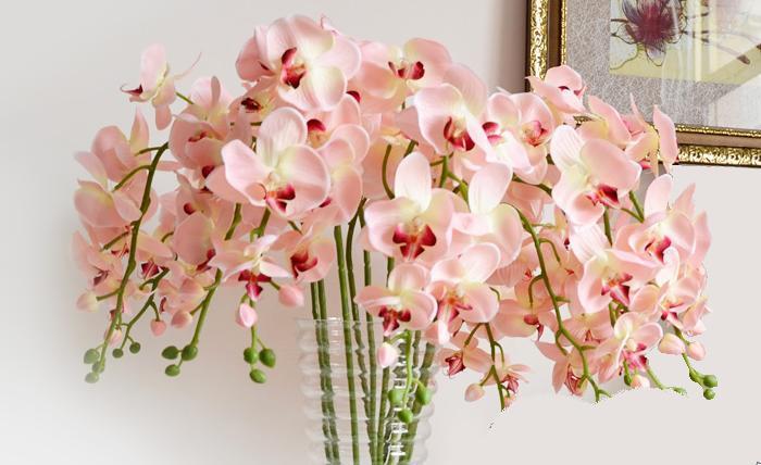 livraison gratuite 92 cm orchid e fleur artificielle fleur en soie fleur artificielle. Black Bedroom Furniture Sets. Home Design Ideas