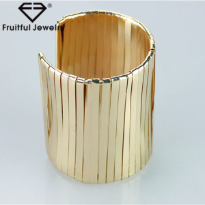 Young dynamic jewelry extra long thin alloy sheet wound open Bracelet jewelry overseas womens bangles ladies gold bangles