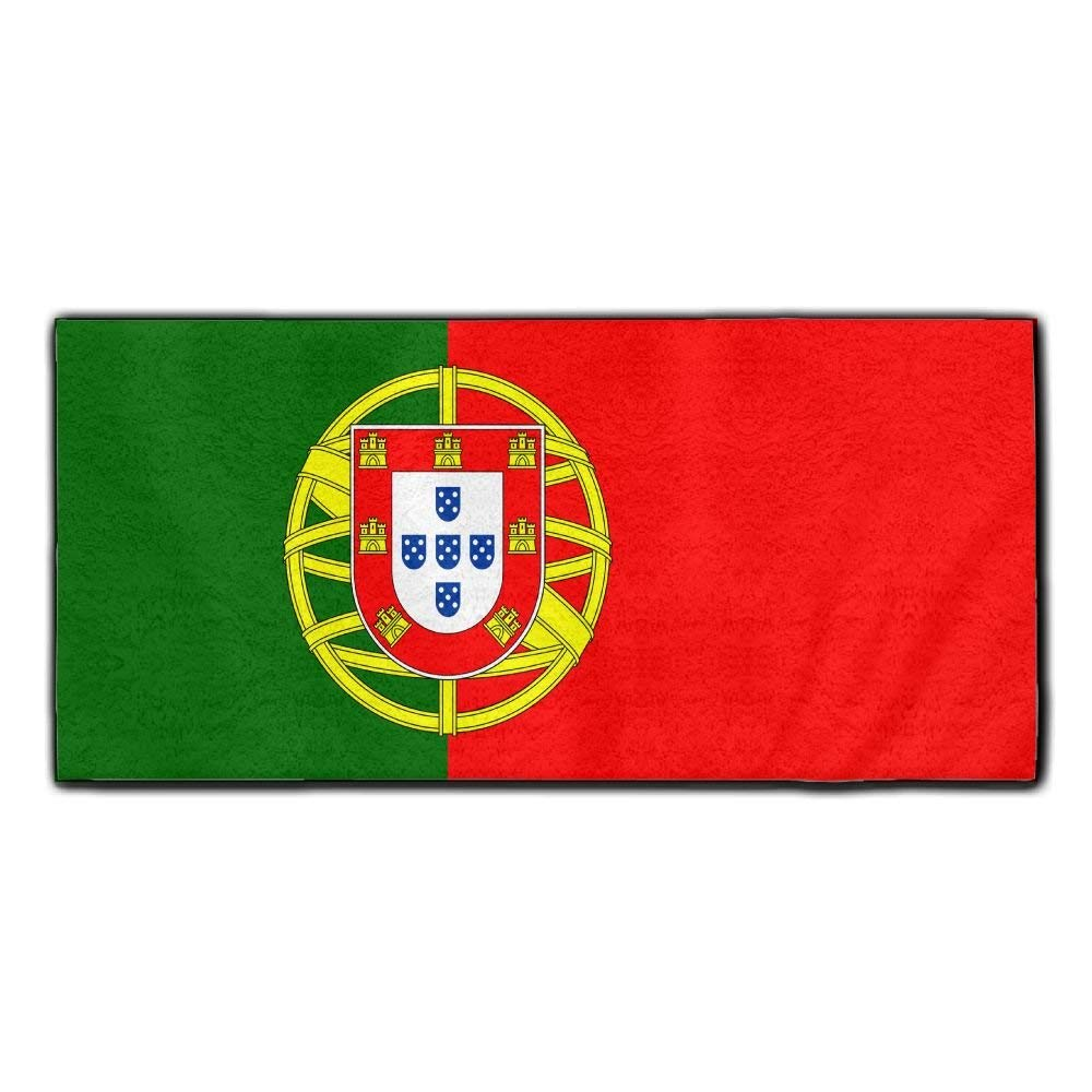 ChunLei Portuguese Flag Washcloths Face Towel Hair Care Towel Gym And Spa Towel Kitchen Dish Towel