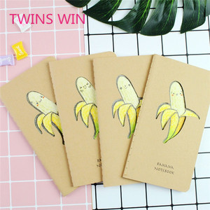 Hot New Arrival advertisement gift stationery customised kawaii banana design writing paper printed notebook 1145