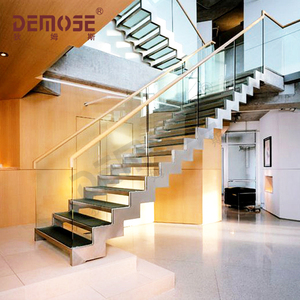 l shaped indoor steel wood staircase designs new residential stair modern fancy elegant