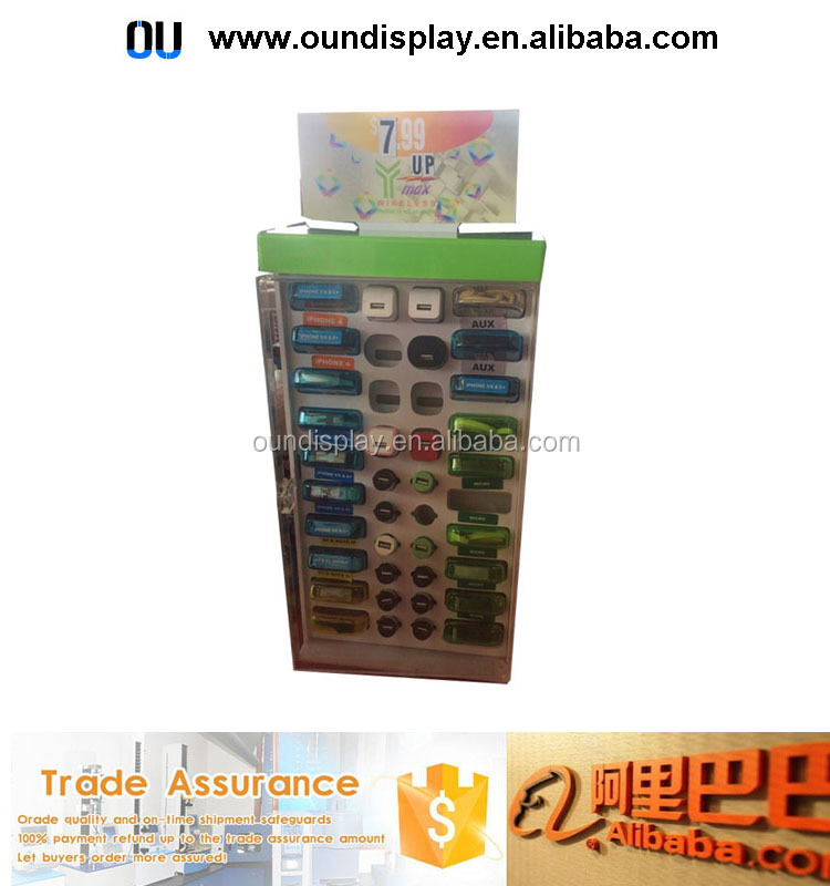 solar mobile phone charger display stand acrylic cellphone charger accessories display