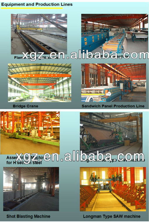 modern design chicken farm steel structure for layers with automatic equipments for sale