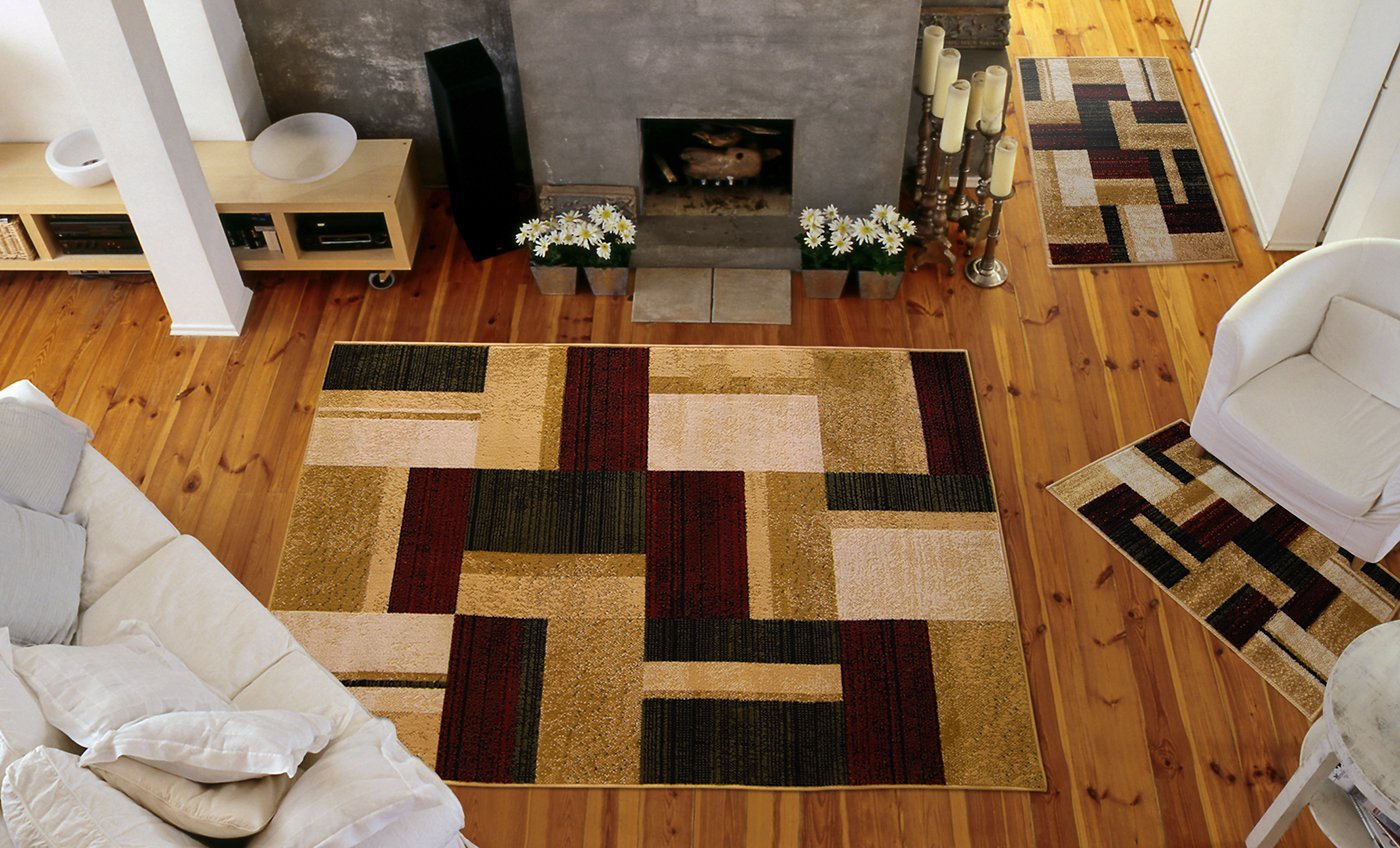 Optimum Collection 3 Piece Area Rug Set By Home Dynamix. This 3 Piece Area Rug Set Includes One 4-foot 5-inch x 6-foot 7-inch Area Rug and Two 20-Inch x 30-Inch Accent Rugs. Home Dynamix 3 Rug Set Offers the Best Value Available. HD0826-999-Multi Colored