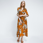 Ladies Elegant women clothing manufacturer printed wholesale long sleeve maxi dress