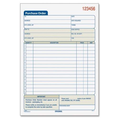 """Wholesale CASE of 25 - Tops Carbonless 2-Part Purchase Order Books-Purchase Order Book,Cbnls,2-Parts, 5-9/16""""X7-15/16"""",50BK/PK"""