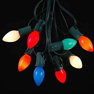Buy Novelty Lights C7 Multi Ceramic Christmas Lights Set