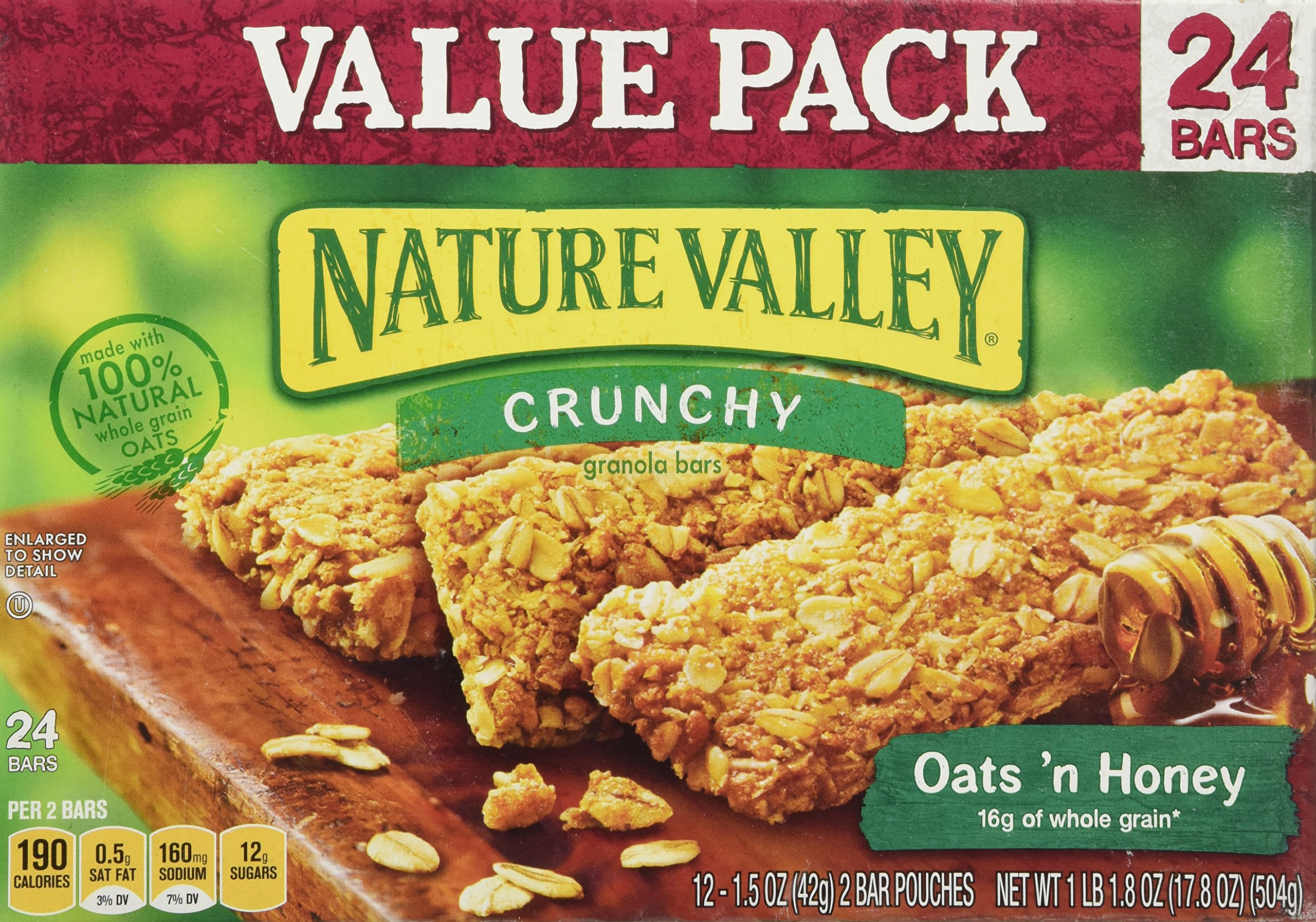 Nature Valley Crunchy Granola Bars Oats n Honey Value Pack - 24 ct